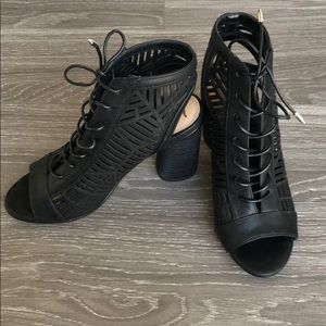 Sam Edelman Black Lace Up Booties LIKE NEW